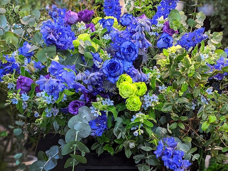 オーダーメイドスタンド花 青い花