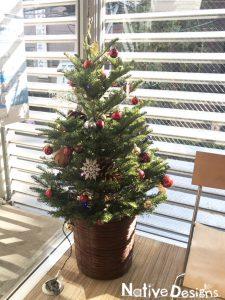 クリニックに飾るクリスマスツリー 1.5m