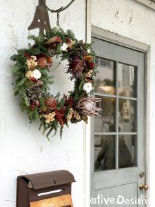 店舗用クリスマスリース